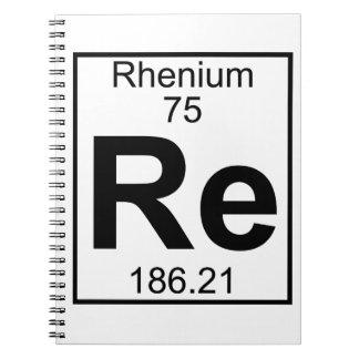 Cuaderno Elemento 075 - Re - renio (lleno)