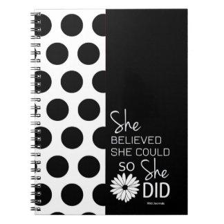 Cuaderno Ella creyó que ella podría (espiral de