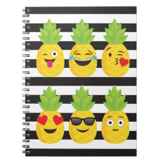 Cuaderno emoji pineapple