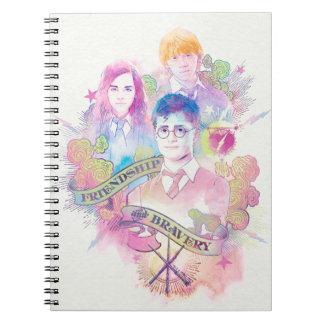 Cuaderno Encanto el   Harry, Hermione, y Ron Waterc de
