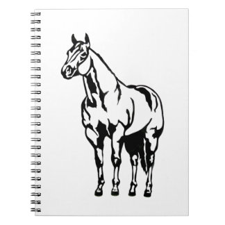 Cuaderno Equestrian cuarto americano con tirante y espalda