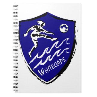 Cuaderno Equipo del fútbol de las mujeres de Whitecaps