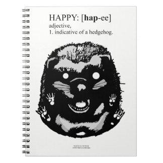 Cuaderno Erizo feliz