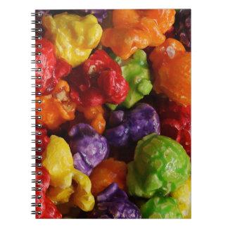 Cuaderno escarchado de las palomitas