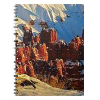 Cuaderno escenas de la roca roja nevosa