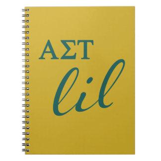 Cuaderno Escritura alfa del Tau Lil de la sigma