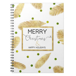 Cuaderno Escritura del purpurina del oro de las Felices