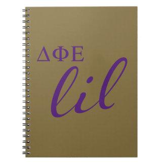 Cuaderno Escritura épsilon de Lil de la phi del delta