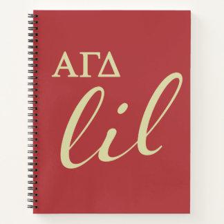 Cuaderno Escritura gamma alfa de Lil del delta
