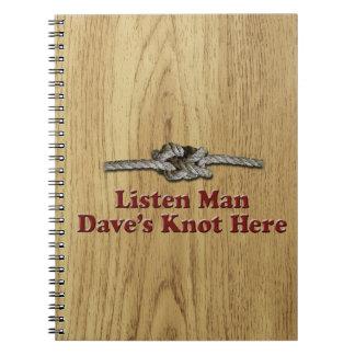 Cuaderno Escuchan los Multi-Productos del nudo de Dave del