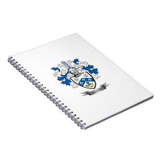 Cuaderno Escudo de armas del escudo de la familia de las
