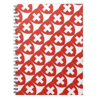 Cuaderno Escudo suizo del escudo de armas