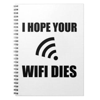 Cuaderno Espere sus dados de Wifi