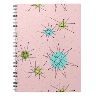 Cuaderno espiral atómico icónico rosado de