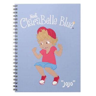 """Cuaderno espiral azul de ClaraBelle - """"JoJo"""""""