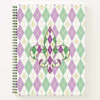 Cuaderno espiral de Argyle del carnaval