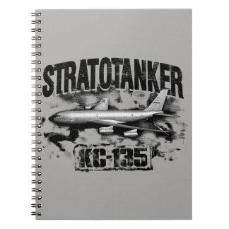 Cuaderno espiral de la foto de KC-135 Stratotanker