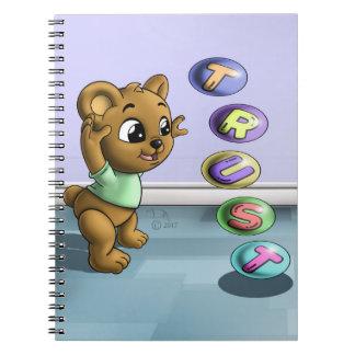 Cuaderno espiral de la foto de la confianza (80