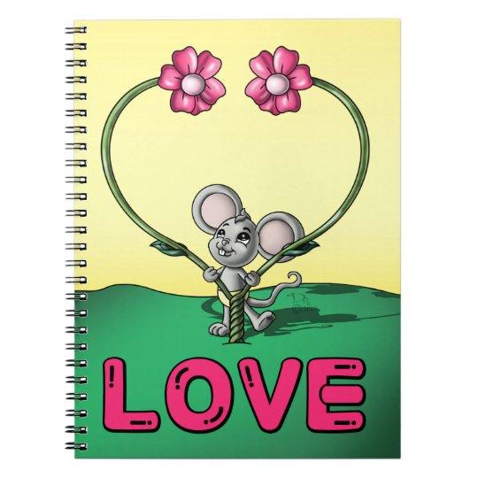 Cuaderno espiral de la foto del amor (80 páginas