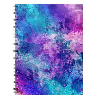 Cuaderno espiral de la impresión del Grunge
