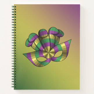 Cuaderno espiral de la máscara del carnaval