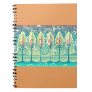 Cuaderno espiral de los árboles abstractos del