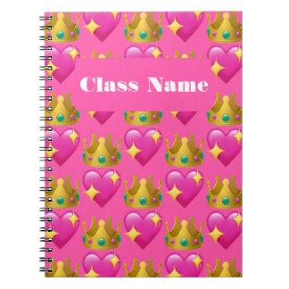 Cuaderno espiral de princesa Emoji (80 páginas