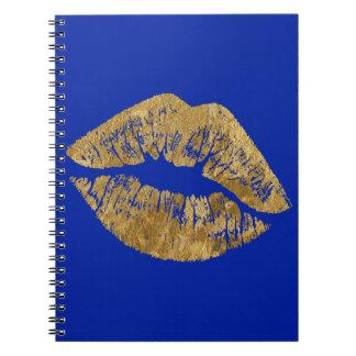 Cuaderno espiral del beso del efecto de la hoja de