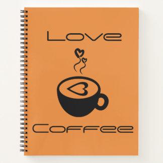 Cuaderno espiral del café del amor