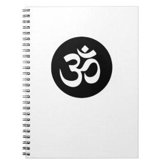 Cuaderno espiral del círculo del símbolo de OM