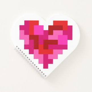 Cuaderno espiral del corazón de Tetromino