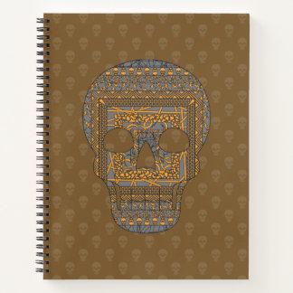 Cuaderno espiral del cráneo de Halloween