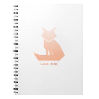 Cuaderno espiral del Fox de la pendiente