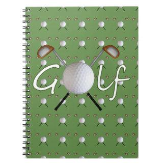 Cuaderno espiral del golf