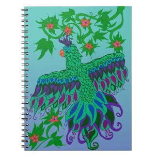 Cuaderno espiral del loro exótico