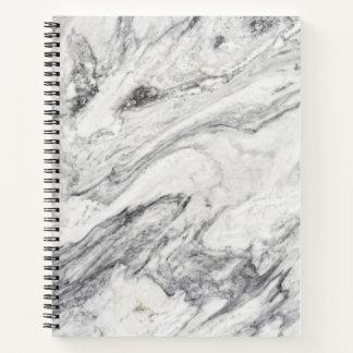 Cuaderno espiral del modelo de piedra de mármol