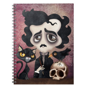 Cuaderno espiral del poeta de Edgar