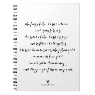 Cuaderno espiral del salmo 19