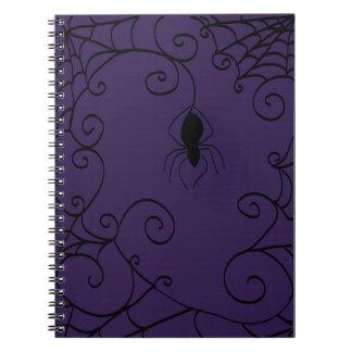 Cuaderno espiral del Web de araña