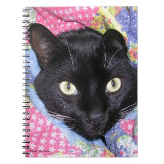 Cuaderno espiral: Gato divertido envuelto en