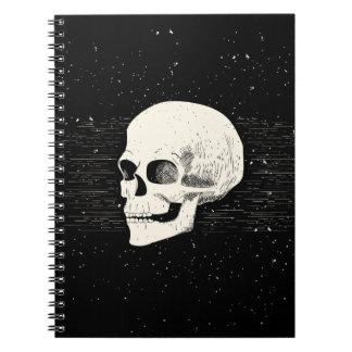 Cuaderno espiral ilustrado del cráneo el |