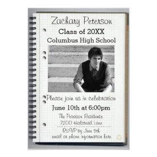 Cuaderno espiral - invitación de la graduación