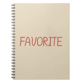 Cuaderno espiral preferido