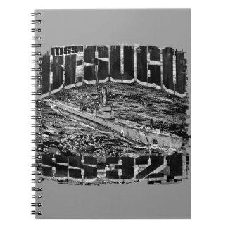 Cuaderno espiral submarino de la foto de Besugo