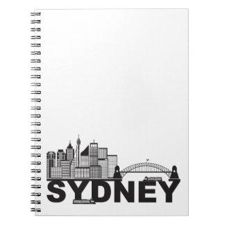 Cuaderno Esquema del texto de Sydney Australia Sklyine