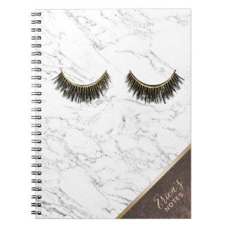 Cuaderno Esquina de cobre de mármol blanca de moda de la