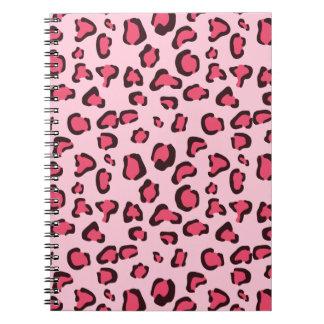 Cuaderno Estampado leopardo rosado falso