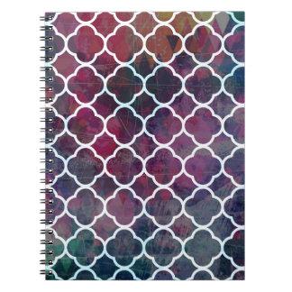 Cuaderno Estilo rosado del marroquí del Grunge