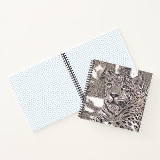 Cuaderno estilo rústico - jaguar