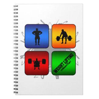 Cuaderno Estilo urbano asombroso del levantamiento de pesas
